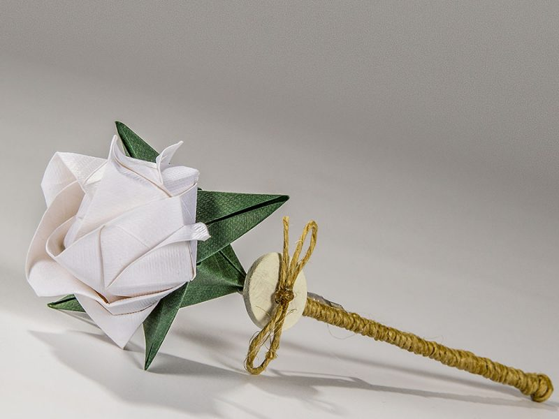 Flor per solapa Miyazaki blanc